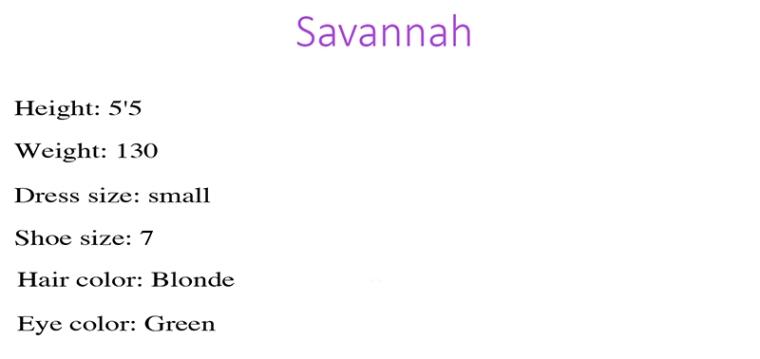 Savannah Stats